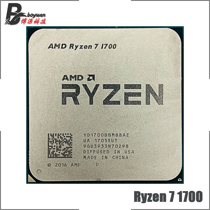 AMD CPU Processor R7 1700 Sixteen-Thread AM4 Eight-Core Yd1700bbm88ae-Socket Ghz title=