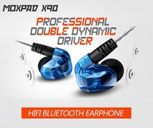100% Original Brand Moxpad X90 Wireless Bluetooth Stereo Earphone Support Sport Running Studio Music with Microphone