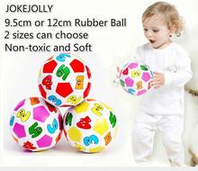 9.5cm/12cm Children Kids Educational Toy Baby Learning Colors and Number Rubber Ball Plaything balls toys for children GYH(China)