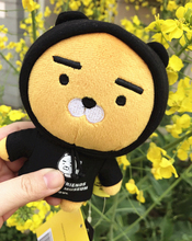 SHINEHENG 16cm Black and white Clothes Ryan Doll Super Cute Little Lion Christmas Gift South Korea Friends South Jun(China)