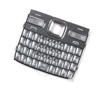 Grey Color New Housing Main Function Keyboards Keypads Buttons Cover Case For Nokia E72 , Free Shipping with tracking#