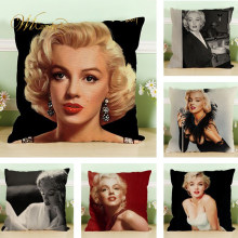 WL Candy L Sexy Goddess Marilyn Monroe Pattern Cushion Cover Soft Pillow For Sofa Chair Car Seat Home Decor Gifts