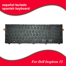 SP Spanish keyboard For DELL Inspiron 15 3521 15R 5521 2521 GLOSSY FRAME BLACK (For Win8) laptop keyboard Free Shipping(China)