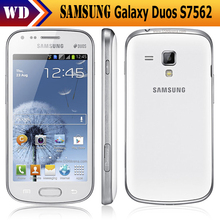 Unlocked Original Samsung Galaxy S duos S7562 Dual sim cards 3G Wifi Bluetooth Gps 4.0'' 5MP Camera Refurbished Mobile phone