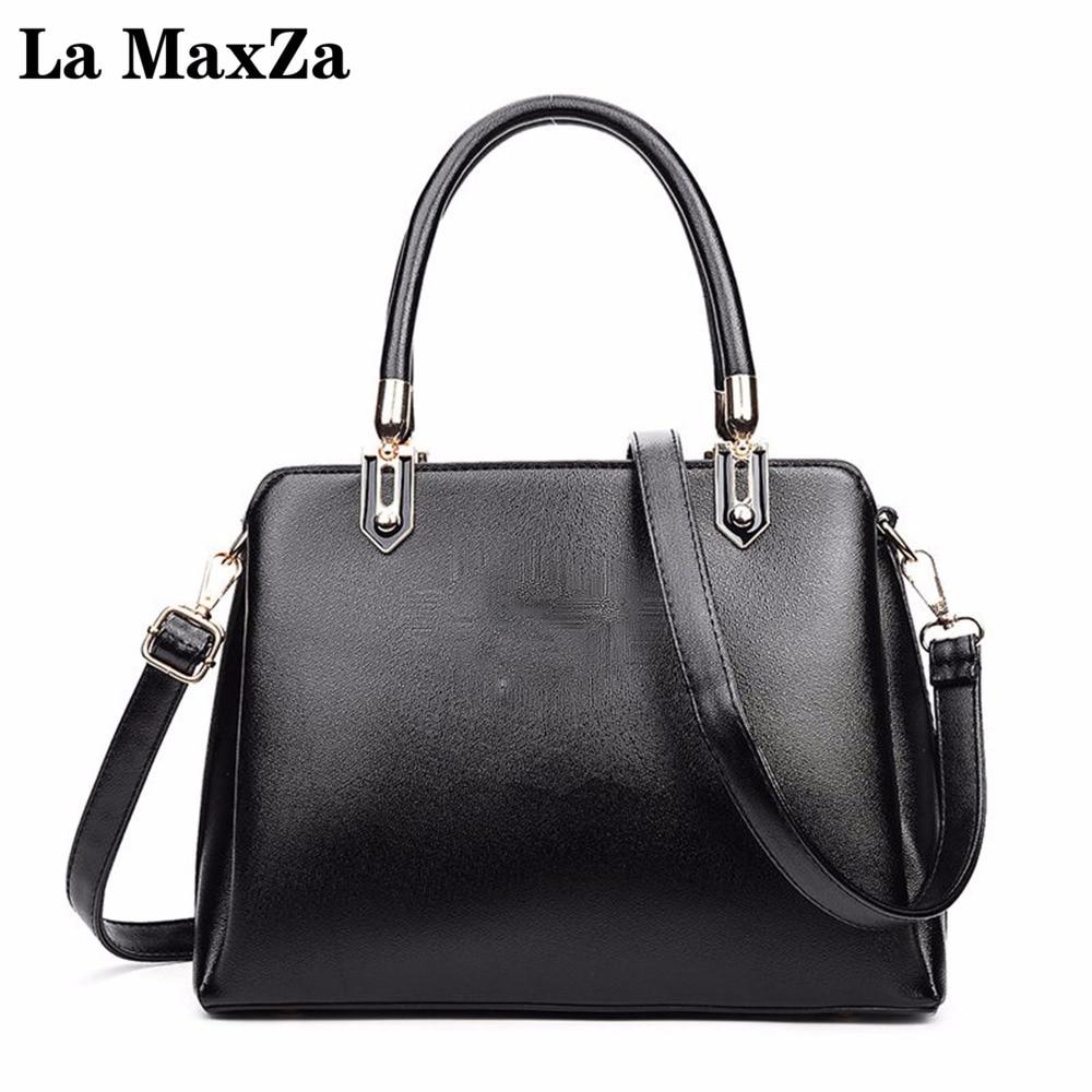 La MaxZa 2017 Fashion Women Bag Ladies Brand Leather Handbags Casual Tote Bag Big Shoulder Bags For Woman<br>