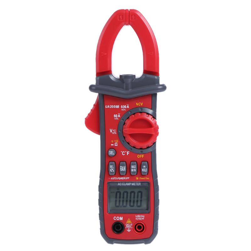 Portable Handheld Digital Clamp Meters Auto Range Clamp Meter Ammeter Voltmeter Ohmmeter w/ LCD Backlight Current Voltage Tester<br>