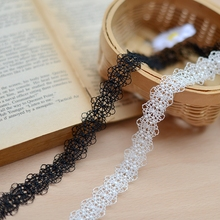 F265 fine hollow water soluble embroidery lace DIY lace accessories lace Necklace clothing material width 2cm Hair Accessories