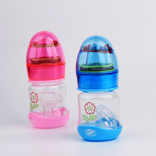 80ml BPA free No odor Baby feeding bottle infant milk bottle Newborn nursing bottle With Rattles