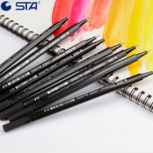 STA 6pcs/lot Technical Graphic Fine Line Drawing Pen Art Markers Brush Waterproof Manga Anime Comic Pen Not Staedtler Durable(China)