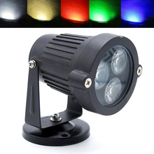 IP65 Waterproof Led Lawn lamp 9W DC 12V Outdoor Landscape Spotlight Blue/Green/Red/White/Warm White Garden Yard Floodlight(China)