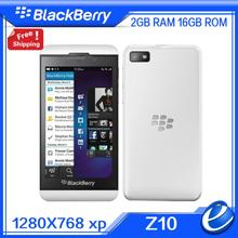 Original Unlocked Blackberry Z10 Dual core GPS WiFi 8.0MP camera 4.2 inch Touch Screen 16G storage cell Phones free shipping
