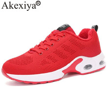 Akexiya New listing Hot sales Autumn And Winter women Sports shoes air cushion sneakers running shoes keep warm(China)