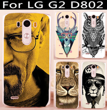 Soft TPU Hard plastic Cover For LG Optimus G2 F320 D801 LS980 5.2 inch D802 D805 D800 D803 Cover Case For LG G2 Phone Back Shell