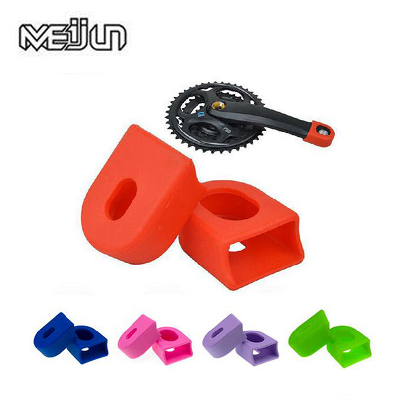 MEIJUN Bicycle Crankset Crank Protective Sleeve Protector Mountain Road Bike Arm Boots Fixed Gear Bicycle Crank Protective Cover(China)