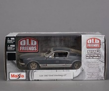 Free Shipping 1967 Ford Mustang GT Diecast Model Car Toy New In Box(China)