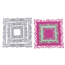 For DIY Scrapbooking Photo Album Paper Card Craft border Square Frame style Embossing Metal Cutting Dies Stencils Scrapbooking