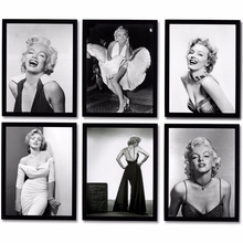 HAOCHU Ultimate Screen Goddess Marilyn Monroe Vintage Canvas Painting Classic White Dress Wall Pictures for Home Decor Posters