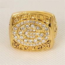 New Sport Jewelry 1997 Brett Favre Green Bay Packers High Quality Replica Super Bowl XXXI Ring Big Size 11(China)