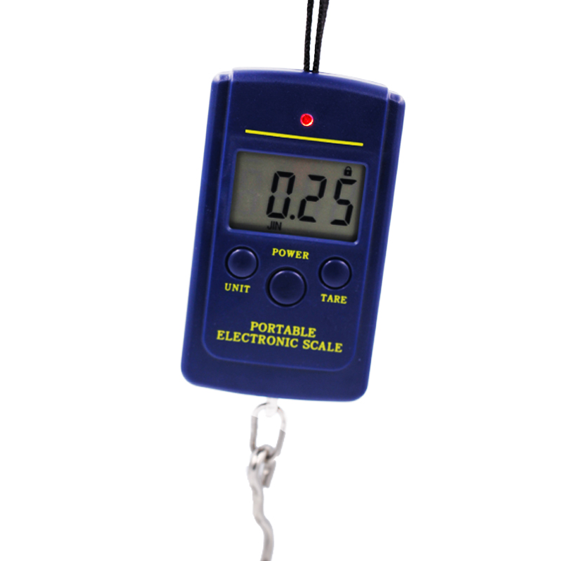 100pcs by dhl fedex 40kg x 10g Portable Mini Electronic Digital Scale Hanging Fishing Hook Pocket Weighing  Scale 30%Off 2