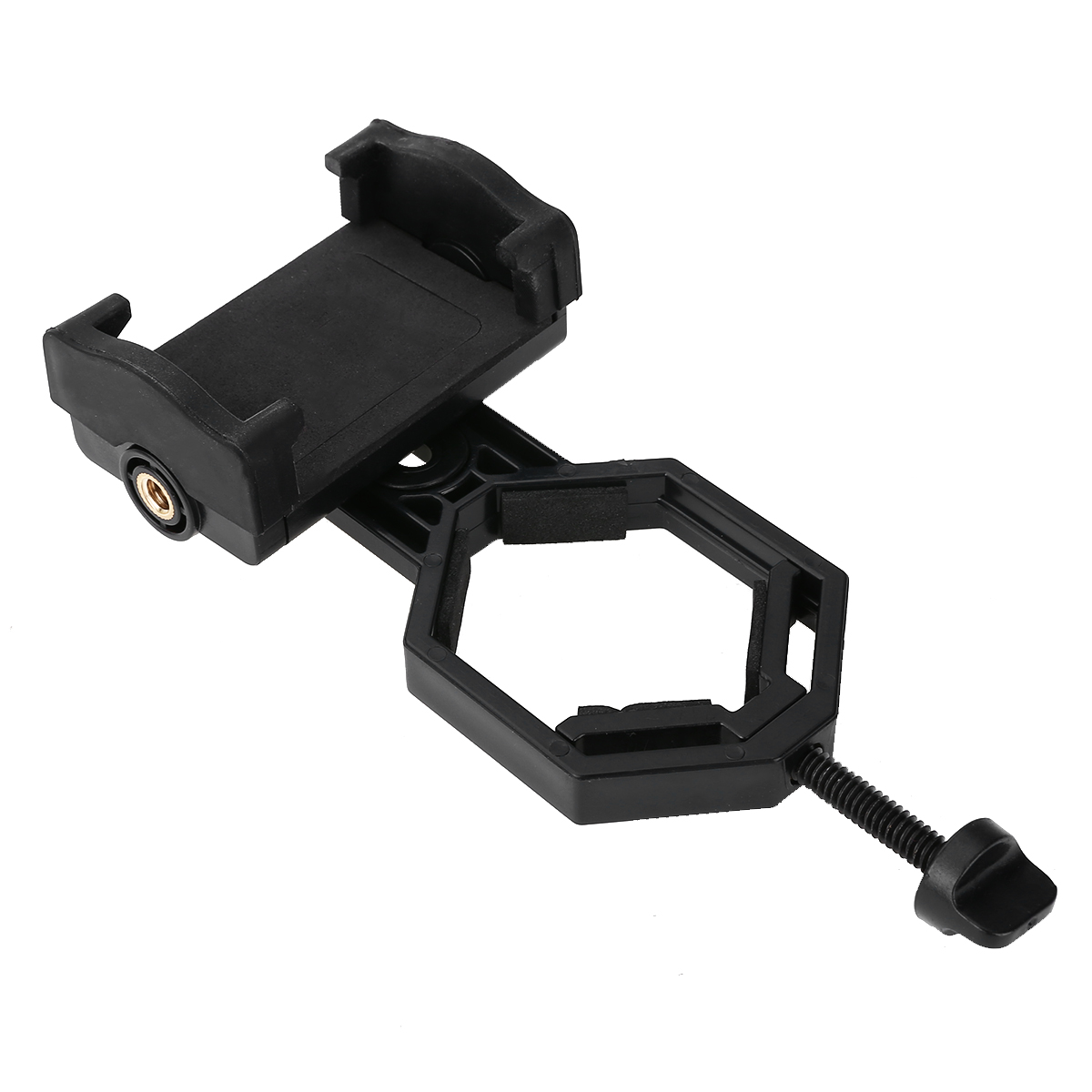 1Pcs Cell Phone Bracket Holder For Monocular Telescope Outdoor Hiking Phone Clip Accessories Bracket Black