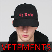 Vetements Big Daddy Sexual Embroidery Fashion Hip hop Hat Mens Streetwear Baseball Caps Harajuku Brand Skateboards Snapback Cap