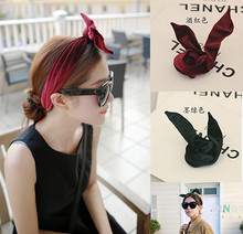 Cute Velvet Bunny Wire Wrap Headband Hair Band Women Girls Hair Accessories Turban  Bandage On Head Bandana