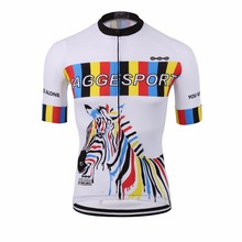 Zebra branded breathable coolmax men's cycling wear/short sleeve beautiful bike shirts/cool design youth colorful bicycle jersey(China)