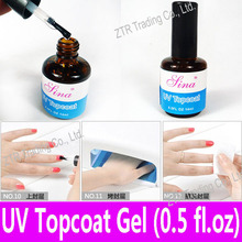 1 piece UV Top Coat Gel Topcoat for UV Curing Acrylic Nail Art Glossy Coating with Any UV Light Lamp 14ml Clear Color Set Kit