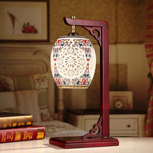 Bedroom vintage table lamp china living room Table Lamp for wedding decoration ceramic art modern bedside table lamp(China)