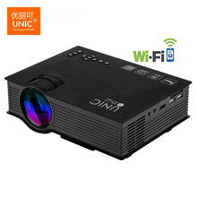 Unic UC46 Wireless WIFI Mini Portable Projector 1200 Lumen Full HD LED Video Home Cinema Support Miracast DLNA Airplay Projetor
