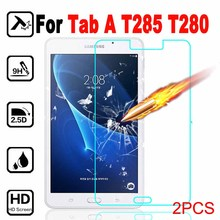 "2pcs T285 T280 Tempered Glass 2.5D cover For Samsung Galaxy Tab A 2016 LTE 7"" Screen Protector Protective Film case on T 285 280"