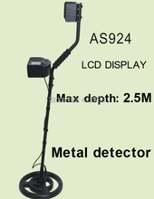 High quality AS924 underground metal detector gold digger treasure hunter, detection depth is 2.5 meters(China)