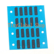 50pcs Inner Anti Dust Grill Mesh Net With Rubber Gasket Adhesive Glue For Ear Speaker Earpiece of iPhone 4 4S 4G 4GS