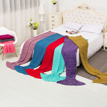 90*50 140*70 180*80 195*95cm Mermaid Blanket ,Pattern Crochet Mermaid Tail,Knitted Mermaid Tail Blanket for Adult Child and baby