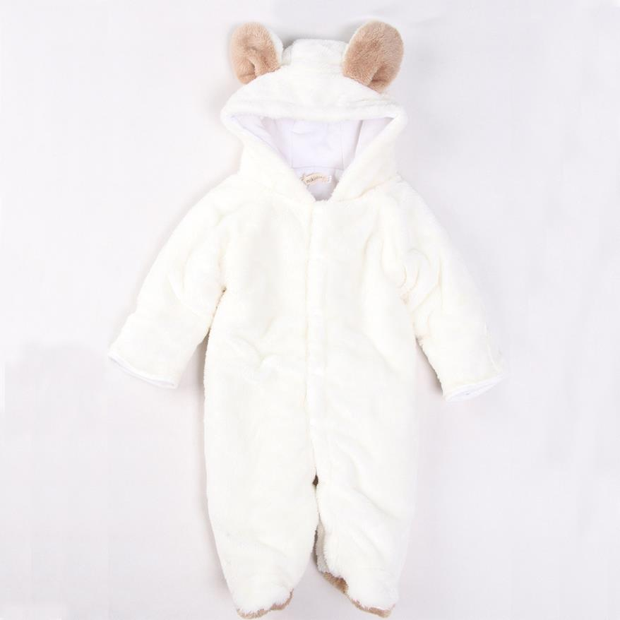Baby Jumpsuit Animal Shape Quilted Padded Winter Romper Bundles Feet Long Sleeve Clothing Boy and Girl Clothes<br><br>Aliexpress
