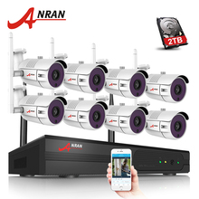 ANRAN 8CH CCTV System Wireless NVR Kit P2P 720P HD Wifi IP Camera Outdoor Security Camera System 2TB HDD Included