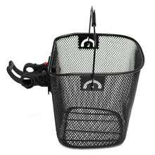 Metal Mesh Basket MTB Mountain Bike Cycling Bicycle Front Foldable Basket Riding Rear Pannier Quick Release Shopping Handle