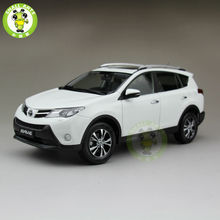1/18 Toyota RAV4 Diecast SUV Car Model Toys for gifts collection hobby White Color(China)