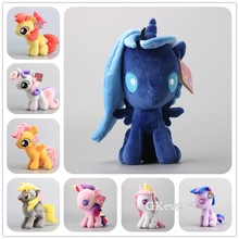 Cute Horse Plush Toys 8 Styles Q Version Princess Luna Cadance Twilight Sparkle Plush Toys Stuffed Dolls Kids Gift 25-32 CM