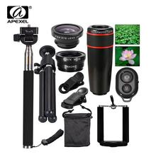 Buy 10in1 Phone Camera Lens 12x Lenses Fish Eye Fisheye Lentes Wide Macro Lenses Selfie Stick Monopod Tripod Xiaomi iPhone Lens for $19.99 in AliExpress store