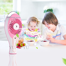 2017 Cooling Mini Fan With Water Diffuser Rechargeable Charging Battery USB Fan Air Conditioner For Home Battery Fan(China)