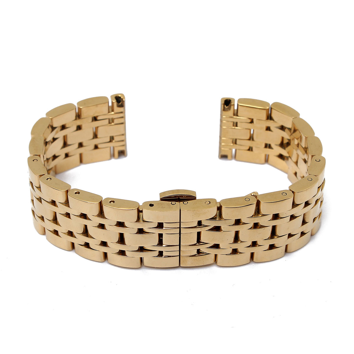 16mm Stainless Steel Watchband for Pebble Steel Watch Strap Butterfly Buckle Bracelet Strap Removable Gold Silver Gold+Silver<br><br>Aliexpress