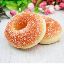 1PCS Charms Miniature Figures Soft Donut Kawaii Squishy Home Decoration Supplies Phone Straps Food Simulation Decor Donuts(China)