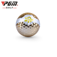 PGM Box Golf Ribbon Ball For Ceremony 3pcs/Lot Opening Celebrate Balls Sport Golf Balls Top Quality Golf Standard Accessories(China)