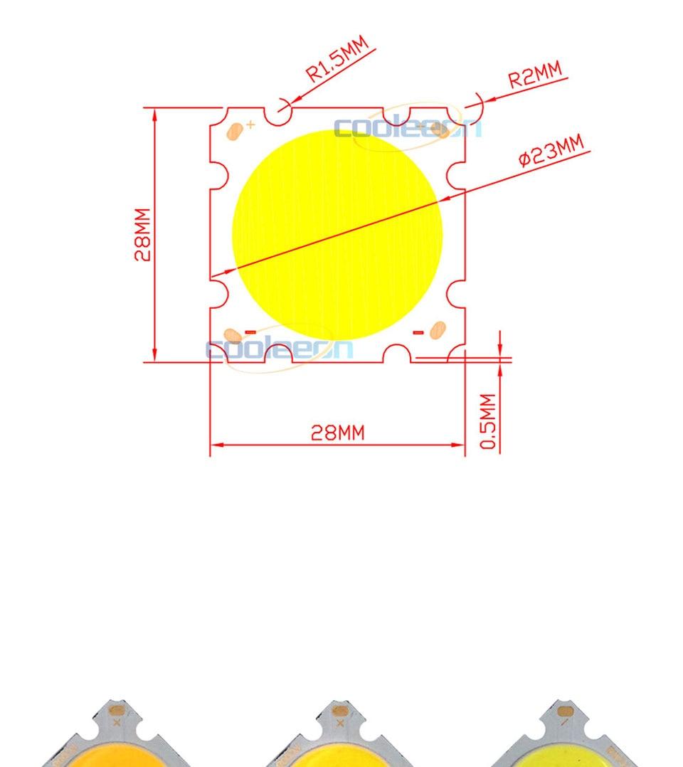 cob led 28mm square cob chip light bulb lamp 15W (11)