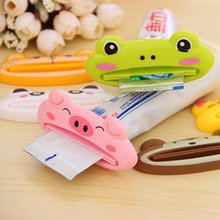Cartoon Animal Panda Toothpaste Dispenser Kawaii Bathroom Accessories Set Tube Tolling Holder Cleanser Squeezer