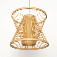 1PC Southeast Asian Chinese restaurant and teahouse creative tatami balcony   pendant lights teahouse bamboo pendant lamp ZCL