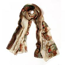 Retro Women Lady Cotton Soft Cool Long Carriage Scarf Large Wrap Shawl Scarves(China)