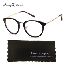 LongKeeper Optical Glasses Frame Eyeglasses With Clear Glass Frames Women Clear Transparent Glasses Women's Men's Eye Cat Frames
