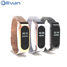 Ollivan Metal Strap For Xiaomi Mi Band 2 Milan Nice Belt Two Generation Screwless Stainless Wristband Bracelet For MiBand 2(China)